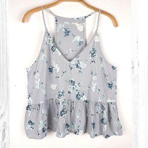 🦋 Kimchi Blue Grey Floral Tank • Medium